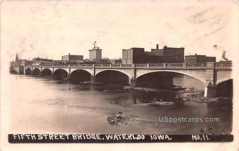 Fifth Street Bridge - Waterloo, Iowa IA Postcard