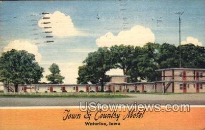 Town and Country Motel - Waterloo, Iowa IA Postcard