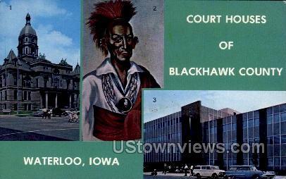 Court Houses of Blackhawk County - Waterloo, Iowa IA Postcard