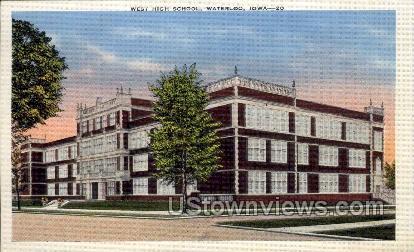 West High School - Waterloo, Iowa IA Postcard