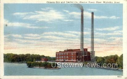 Citizens Gas and Electric Co. - Waterloo, Iowa IA Postcard