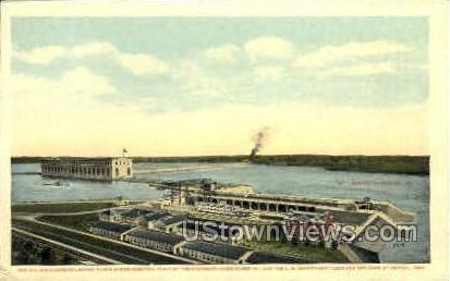 Mississippi River Power Plant - Keokuk, Iowa IA Postcard