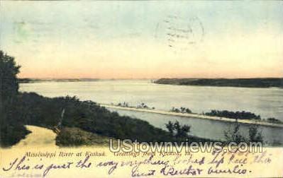 Mississippi River - Keokuk, Iowa IA Postcard