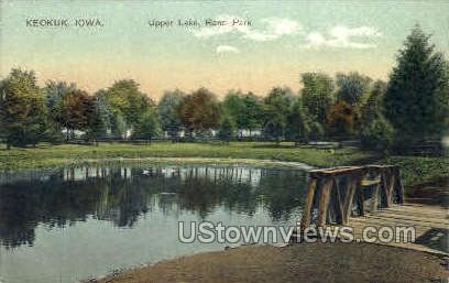 Upper Lake, Rand Park - Keokuk, Iowa IA Postcard