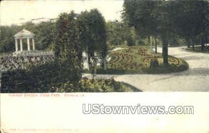 Flower Garden, Rand Park - Keokuk, Iowa IA Postcard
