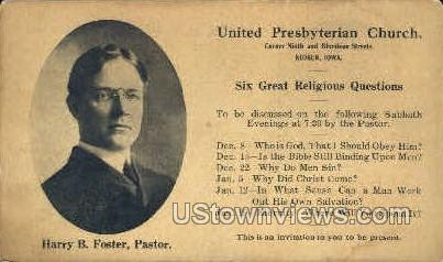United Presbyterian Church - Keokuk, Iowa IA Postcard