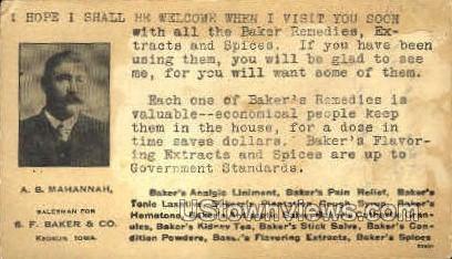 S.F. Baker and Co. - Keokuk, Iowa IA Postcard