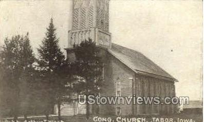 Congregational Church - Tabor, Iowa IA Postcard