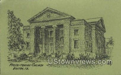 Presbyterian Church - Vinton, Iowa IA Postcard
