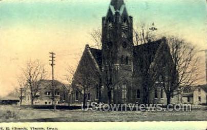 Methodist Episcopal Church - Vinton, Iowa IA Postcard