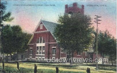 First Congregational Church - Sheldon, Iowa IA Postcard