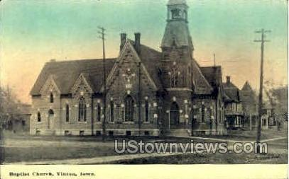 Baptist Church - Vinton, Iowa IA Postcard