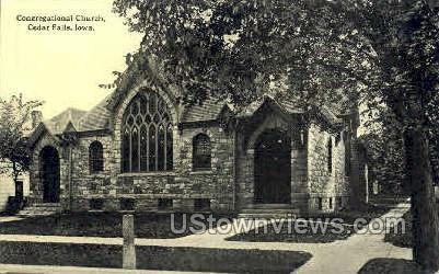 Congregational Church - Cedar Falls, Iowa IA Postcard