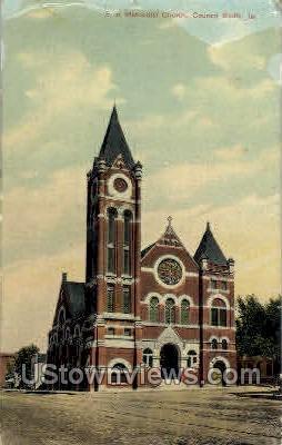 First Methodist Church - Council Bluffs, Iowa IA Postcard