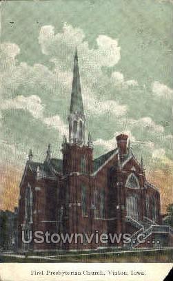 First Presbyterian Church - Vinton, Iowa IA Postcard