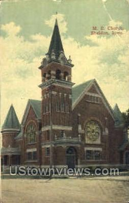 Methodist Episcopal Church - Sheldon, Iowa IA Postcard