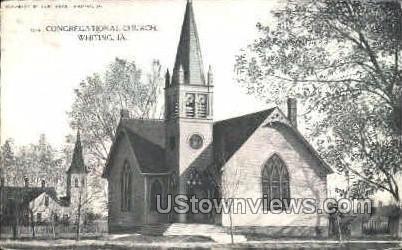 Congregational Church - Whiting, Iowa IA Postcard