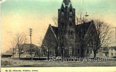 M.E. Church - Vinton, Iowa IA Postcard