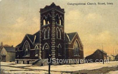 Congregational Church - Stuart, Iowa IA Postcard