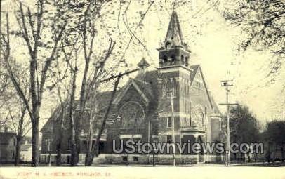 First M. E. Church - Sheldon, Iowa IA Postcard
