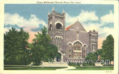 Grace Methodist Church - Sioux City, Iowa IA Postcard
