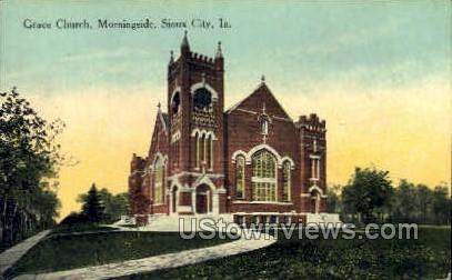 Grace Church - Sioux City, Iowa IA Postcard
