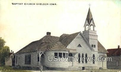 Baptist Church - Sheldon, Iowa IA Postcard