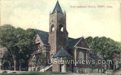 Congregational Church - Traer, Iowa IA Postcard