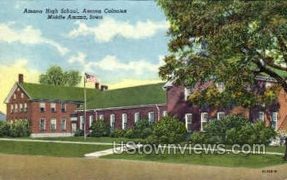 Amana High School - Iowa IA Postcard