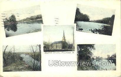 Baptist Church - Anamosa, Iowa IA Postcard