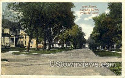 15th Street - Clarinda, Iowa IA Postcard