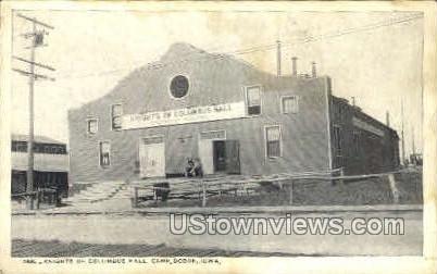 Knights of Columbus Hall - Camp Dodge, Iowa IA Postcard