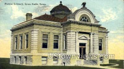 Public Library - Iowa Falls Postcards, Iowa IA Postcard