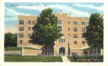 Jane Lamb Hospital - Clinton, Iowa IA Postcard