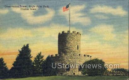 Observation Tower - Clinton, Iowa IA Postcard