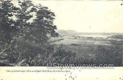 Mississippi River - Clinton, Iowa IA Postcard