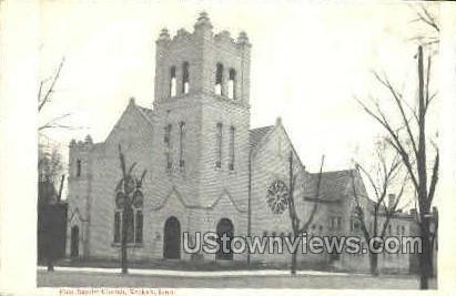 First Baptsit Church - Keokuk, Iowa IA Postcard