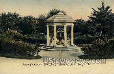 Birge Fountain - Keokuk, Iowa IA Postcard