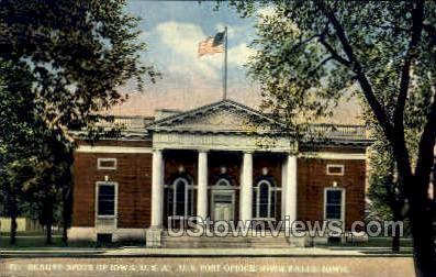 Post Office - Iowa Falls Postcards, Iowa IA Postcard