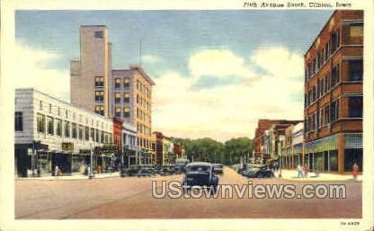 Fifth Avenue - Clinton, Iowa IA Postcard