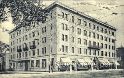 Lafayette Inn - Clinton, Iowa IA Postcard