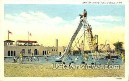 New Swimming Pool - Clinton, Iowa IA Postcard