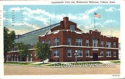 Legionnaire Club - Clinton, Iowa IA Postcard