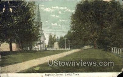 Baptist Church - Delhi, Iowa IA Postcard