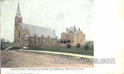 Sacred Heart Cathedral - Davenport, Iowa IA Postcard