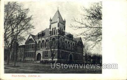 High School - Clinton, Iowa IA Postcard