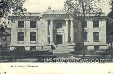 Public Library - Clinton, Iowa IA Postcard