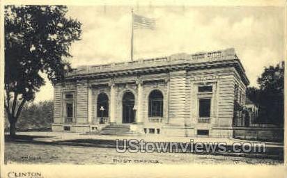 Post Office - Clinton, Iowa IA Postcard
