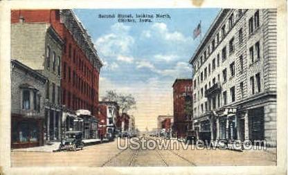 Second Street - Clinton, Iowa IA Postcard