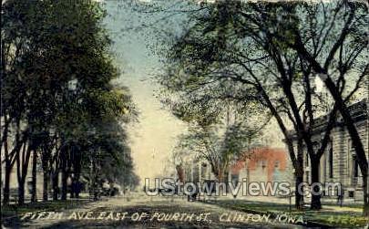 5th Avenue - Clinton, Iowa IA Postcard